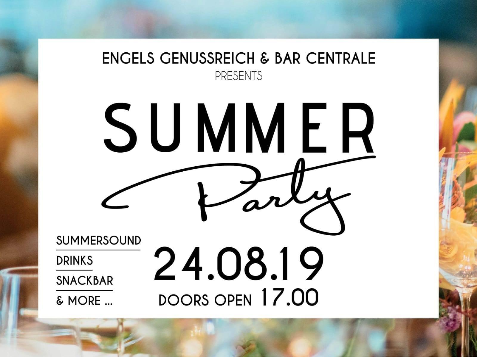 SUMMER PARTY im Engels Genussreich