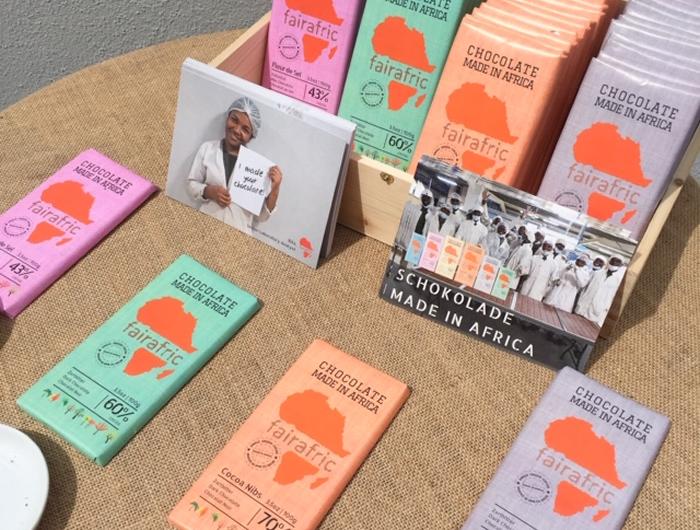 Vorstellung von fairafric Schokolade